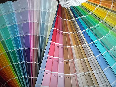 fan, catalogs, colors, spectrum, rainbow, colorful
