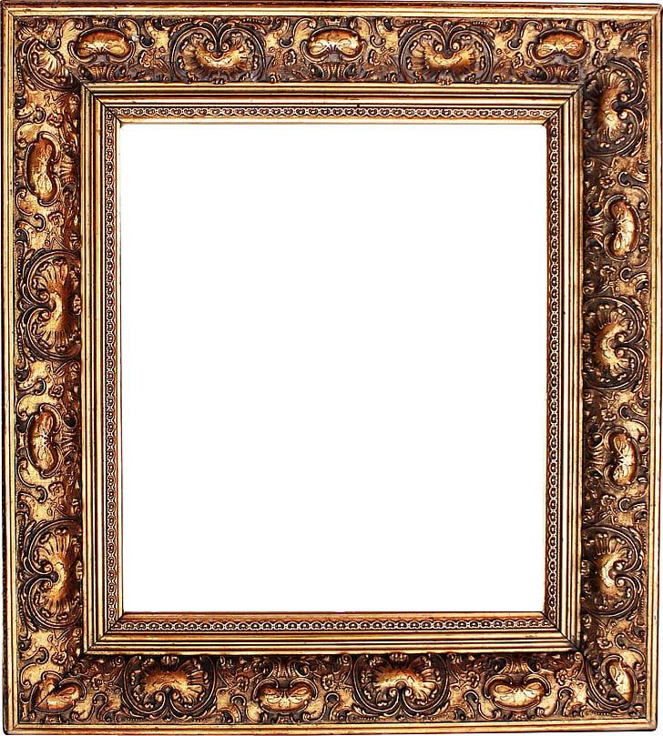 Royalty-Free photo: Brown wooden frame | PickPik