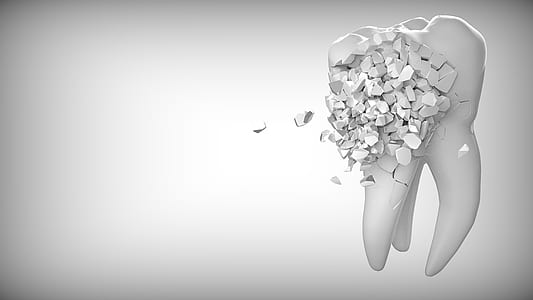 white tooth graphic artwork