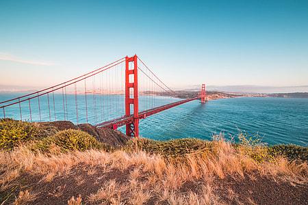 Famous Golden Gate Bridge from Battery Spencer Vista Point