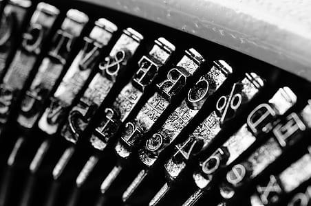 macro photography of typewriter keys