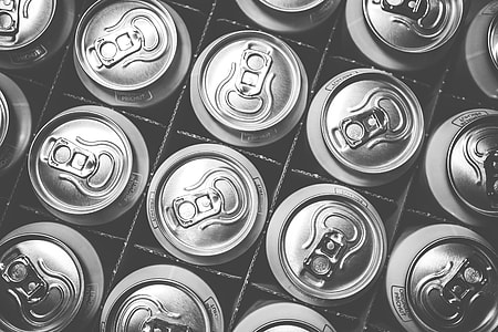 Pattern of Soda Drink Cans