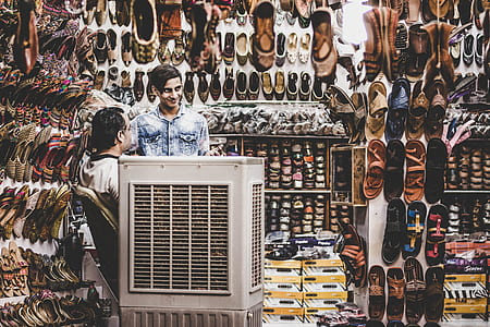 Two Person in Shoe Store