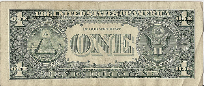 1 US dollar banknote
