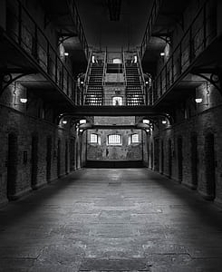 gray prison interior