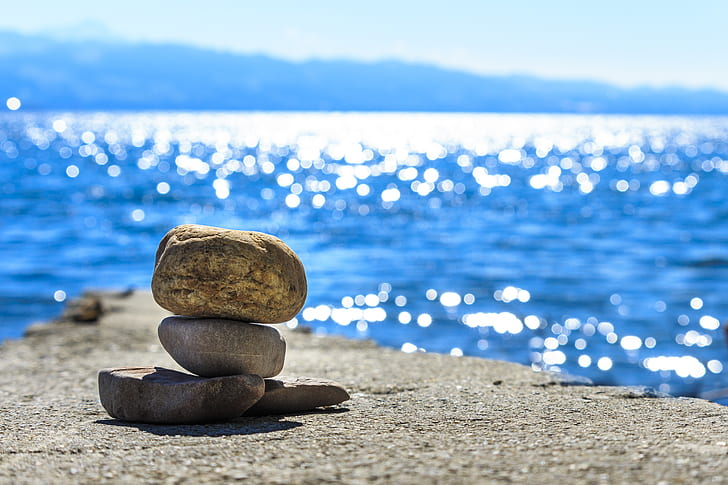 grey balancing stones