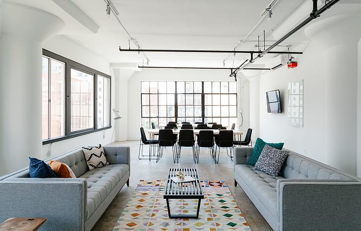 gray living room set