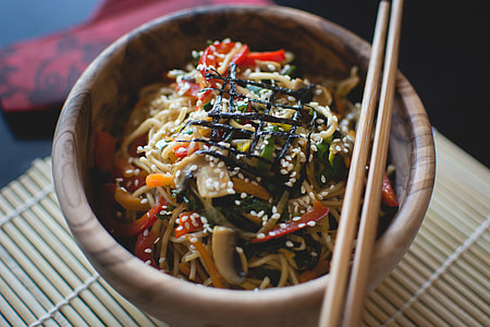 Chinese Colorful Meal with Noodles