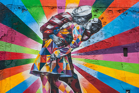 Vibrant street art captured near the High Line in Manhattan, New York City