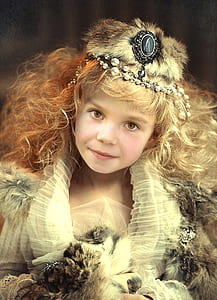 girl wearing headdress and dress artwork