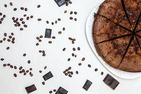 Chocolate, cake and coffee