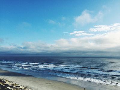 aerial view of vast ocean