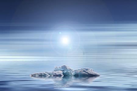 white ice burg on water during daytime