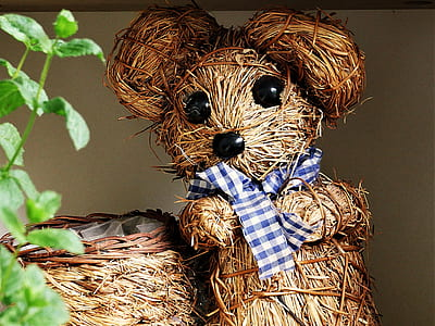 brown twig bear decor