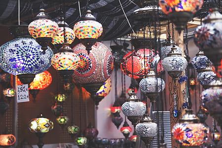 assorted hanging lantern lot