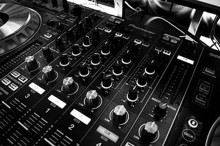 Black and Silver Mixing Board