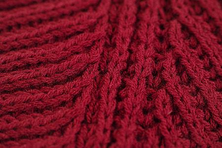 red crochet textile