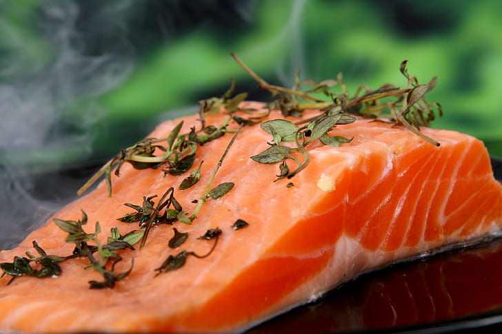 smoked salmon with herb