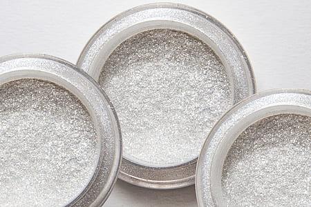 three white makeup palettes