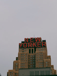Large New Yorker Sign