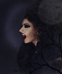 photography of vampire woman wallpaper