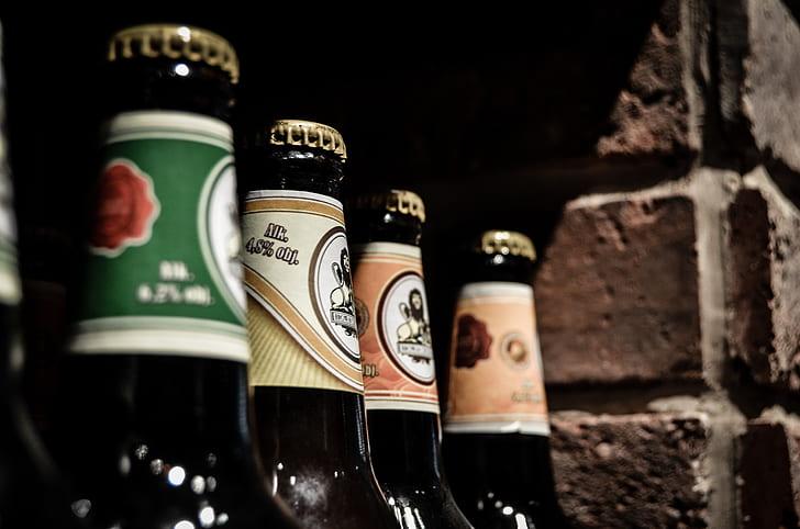 closeup photo of assorted-brands beer bottles