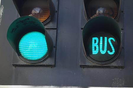 black traffic light