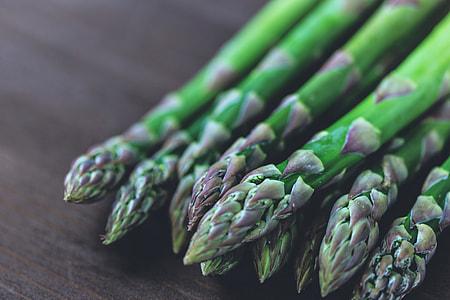Closeup shot of asparagus vegetables