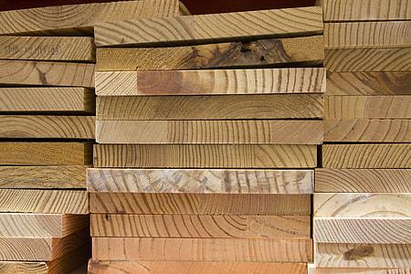 pile of brown wood planks