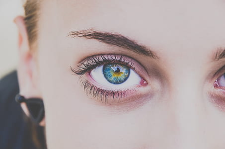 close up photo of woman's eyes