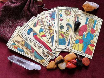 fan of tarot card