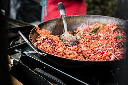 Stir fried root vegetables