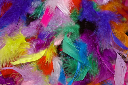 fur multicolored textiles