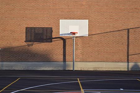 Basketball Hoop on Court