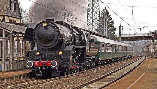 black and green train