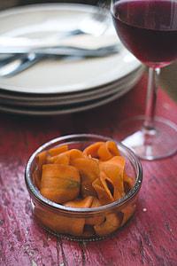 Homemade carrot carpaccio