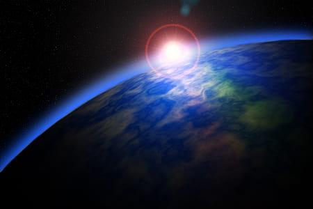earth atmosphere digital wallpaper
