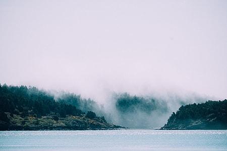 photo of lake and mountain