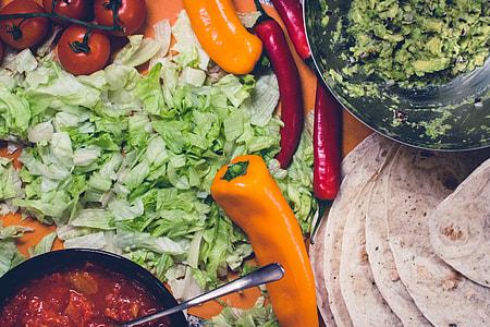 Preparing Mexican burritos