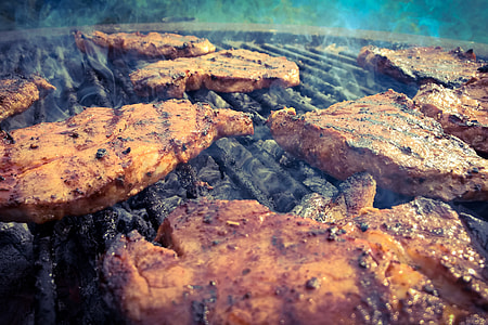 Meats on BBQ