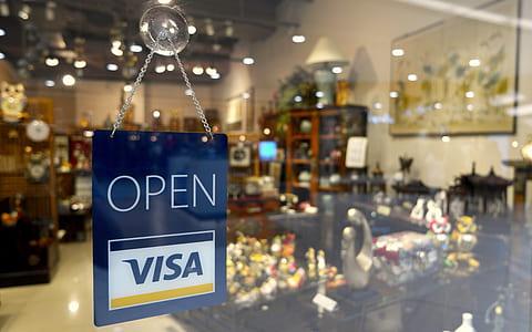 Open Visa signage