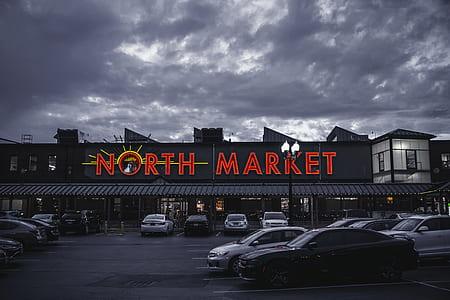 North Market Signage Building Under Gray Sky
