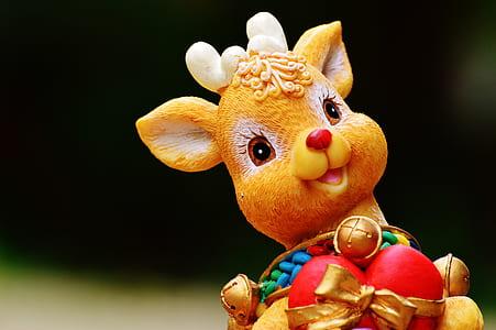 brown ceramic deer figurine