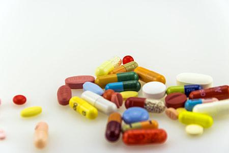 assorted medicine tablets