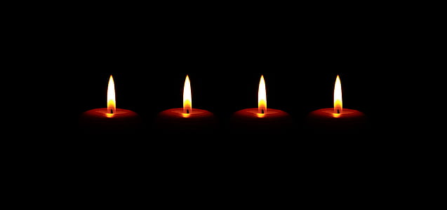 four tealights with lights