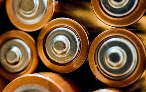 Close-up Photo of Batteries