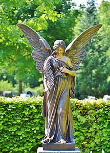 female angel concrete statue