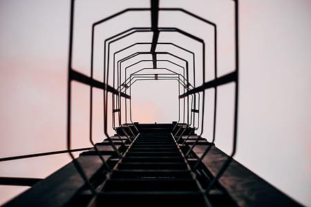 photo of black ladder