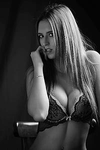 women's gray bra