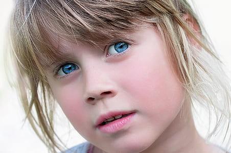 closeup of blue-eyed girl
